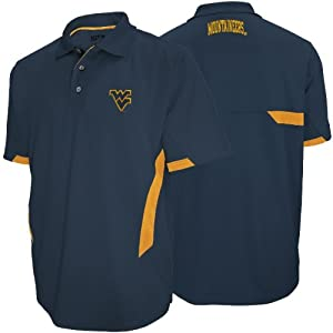 West Virginia Mountaineers Majestic NCAA Green Light Navy Performance Polo Shirt by Majestic