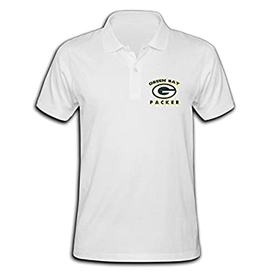Green Bay Packer Round Logo Logo Pique Polo T-shirt For Men