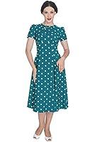 Hell Bunny - Madden - Vintage-Kleid - Polka Dots - 50er Jahre - Mintgrün