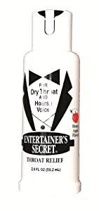 Entertainer's Secret Throat Relief for Dry Throat and Hoarse Voice Honey Apple Flavor