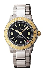 Gevril Men's 3106 Sea Cloud silver stainless-steel band watch.