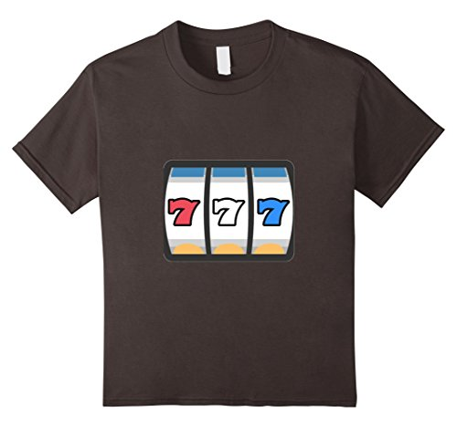 Kids Slot Machine Casino Game Classic Vintage Seven 777 T-Shirt 6 Asphalt (Slot Machine Shirt compare prices)