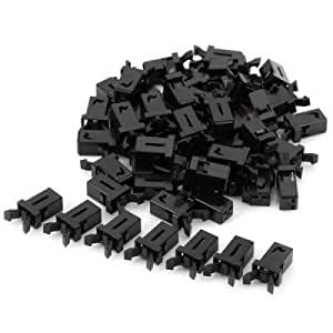 Practical 50Pcs Nylon PA66 DC 5V 12A Door Interlock Switches for DIY Project - BLACK