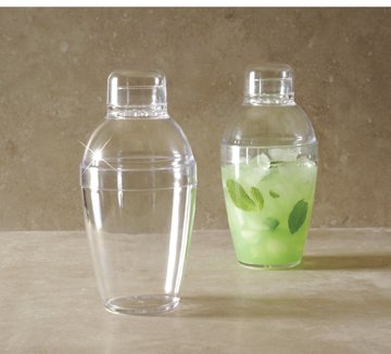 Plastic Cocktail Shaker, 7oz Clear 3 Piece Set (Plastic Cocktail Mixer compare prices)