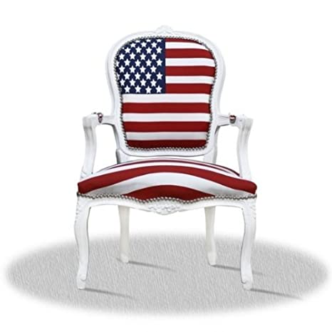 baroque style armchair carved with Stars and Stripes