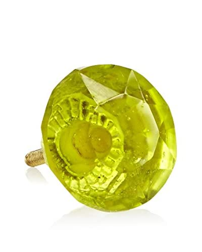 A. Sanoma Inc. Glass Knob, Green