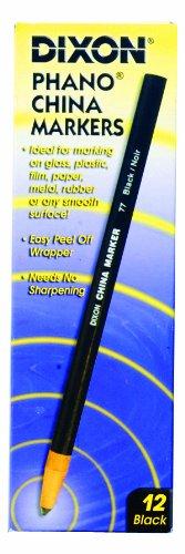 Dixon Phano China Markers 12//pkg-black