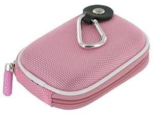 rooCASE Nylon Hard Shell (Pink) Case with Memory Foam for Sony Cyber-shot DSC-W290 Digital Camera Black