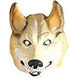 Wolf Maske Wolfsmaske braun Wolfs Maske Wolfmaske Tiermaske Kostüm Zubehör Fasching