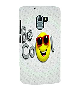 PrintVisa Cute Cartoon Cool Smiley 3D Hard Polycarbonate Designer Back Case Cover for Lenovo K5 Note