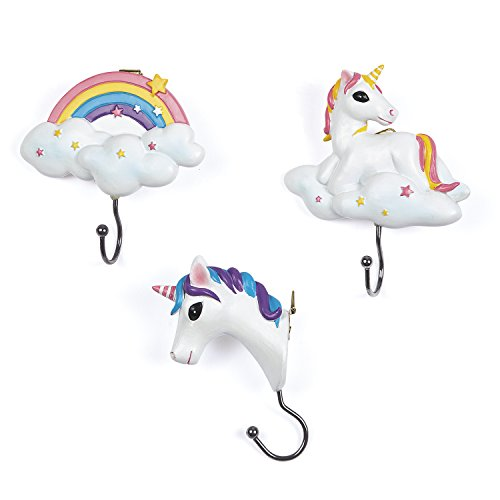 Unicorn and Rainbow Wall Hook Set/3