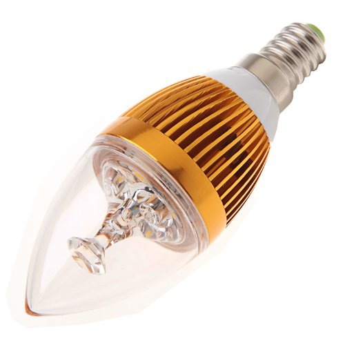3W E14 Led Light Bulb Candle Lamp White 85V - 265V