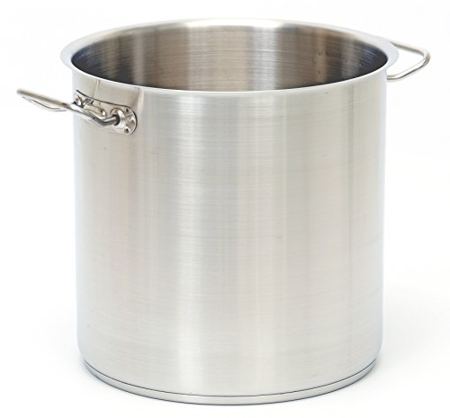 Industrial Kitchen Pans: Professional Stainless Steel 27.5-Quart Stock Pot W/ Lid