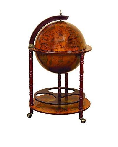 Wood World Globe Bar, Brown