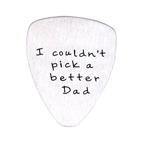 O.RIYA I couldn't Pick a Better Dad, Fathers Day Gift, Gift for men, Guitar Pick, Custom Guitar Pick, Gift for Dad (White)