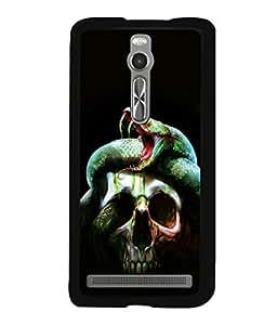 printtech Skull Snake Venom Back Case Cover for Asus Zenfone 2 , Asus Znfone 2 ZE550ML