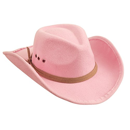 Mud Pie Girls Pink Cowboy Hat (one size)