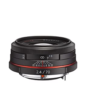 Pentax K-Mount HD DA 70mm f/2.4 70-70mm Fixed Lens for Pentax KAF Cameras (Limited Black)