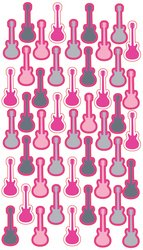 Puffy Dimensional Stickers, Guitar Repeats