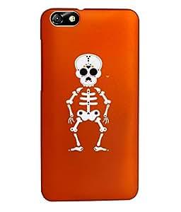 KolorEdge Back Cover For Huawei Honor 4X - Orange (1344-Ke15187Honor4XOrange3D)