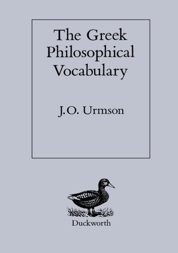 The Greek Philosophical Vocabulary