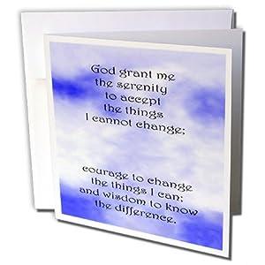 gc_916_1 Prayer - Serenity Prayer - Greeting Cards-6 Greeting Cards with envelopes