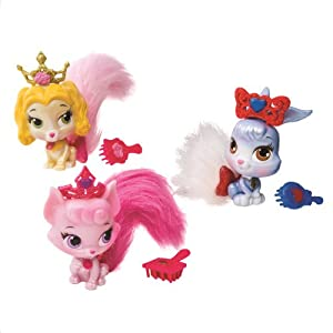 Disney Princess Palace Pets Furry Tail Friends 3 pack, Berry, Teacup, & Beauty