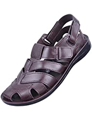 Fischer Men's Brown Synthetic Leather Sandals -6 UK