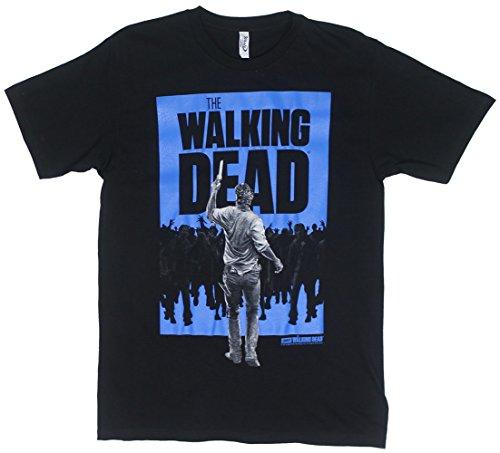Rick Vs. Walkers - Walking Dead Sheer T-shirt: Adult Medium - Black
