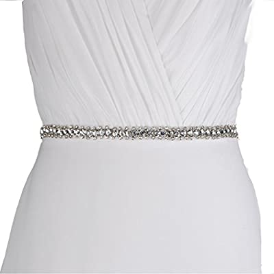 Azaleas Women's Stunning Crystal Wedding Dress Sash Belts