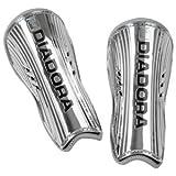 Diadora Cosmo Chrome Shin Guard (Large, Metallic Silver)