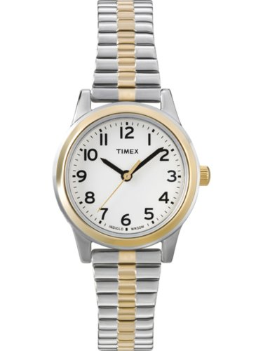 Timex Women's T2N068 Elevated Classics Dress Two-Tone Expansion Watch