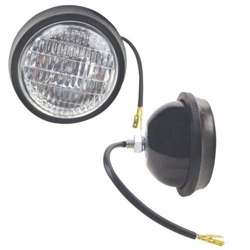Headlight Assembly- Halogen Tractor Headlight FordD4NN13002C Minneapolis Moline Oliver Massey Ferguson International 1066 706 Case Ford John Deere 4020 3020 4000 4010 3010 4320 Allis Chalmers White