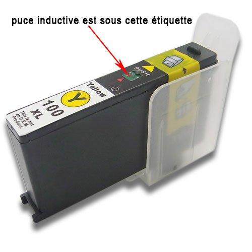 Druckerpatronen komp. für Lexmark 100 100XL S301 S305 S405 S505 S605 S308 S408 S508 S608?S815 S816 Pro205 Pro705 Pro805 Pro905 Pro208 Pro708 Pro808 Pro908 Pro901 (1 Gelb)