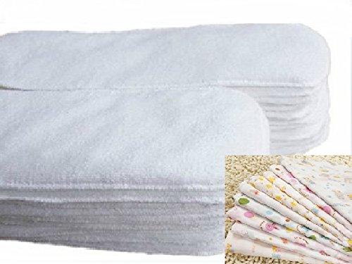 折らずにそのまま使える成形型★速乾 ベビー 布おむつ 8枚セット  ★かわいいガーゼ付