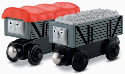 Fisher-Price Thomas the Train Wooden Railway Giggling Troublesome Trucks (Thomas Wooden Railway Cars compare prices)