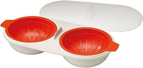 Joseph Joseph Microwave Cuoci Uova, Plastica, Bianco