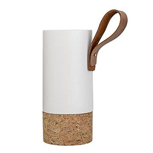 Bloomingville Vase, Matte White/Nature Cork Ø10xH22cm