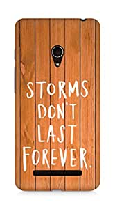 AMEZ storms dont last forever Back Cover For Asus Zenfone 5