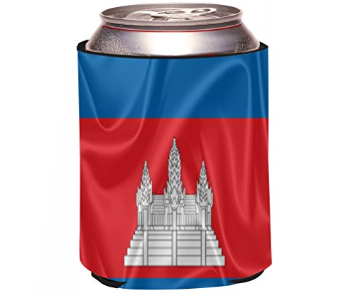 Rikki Knight Beer Can Soda Drinks Cooler Koozie, Cambodia Flag Design resilience in cambodia