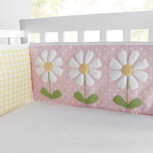 VCNY Lazy Daisy Bumper Set, 4-Piece