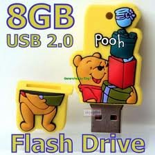 8GB Winnie The Pooh Memory Stick USB Flash Drive. Twice the GB Half the Price. from NUT