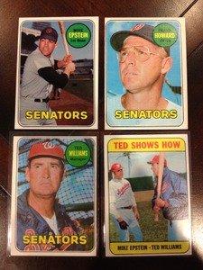 1969 Topps Washington Senators Team Set 28 Cards Ted Williams Frank Howard Exmt+ Avg