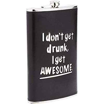Maxam 64oz Stainless Steel Flask With Black Wrap