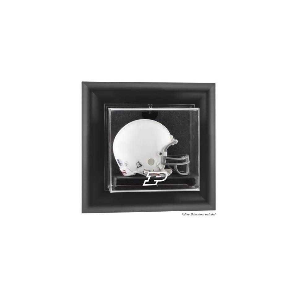 Purdue Boilermakers Black Framed Wall Mountable Mini Helmet Display Case   Fanatics Authentic Certified