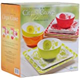 Laurie Gates: Citrus Grove - 12 Piece Melamine Dinnerware Set