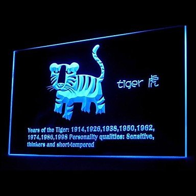 Chinese Zodiac Tiger Advertising Led Light Sign