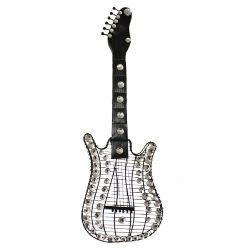 """Rock Forever 35"""" Stratocaster Electric Guitar Hanging Metal Wall Art"""