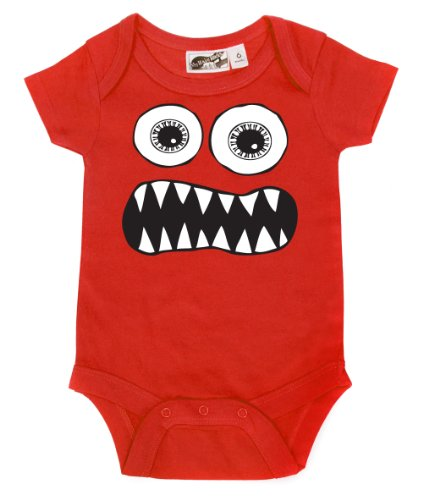 Toothy Monster Red One Piece 6-12 Months front-1034641
