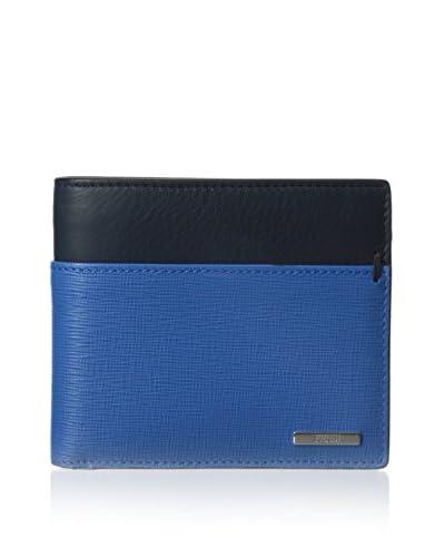 Fendi Men's Colorblock Billfold Wallet, Blue